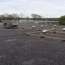 View office building flat roof  Solatube installs, Barrie, Ontario