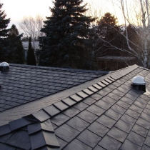 View Solatubes installed on a new rubber tile roof, Orono, Ontario
