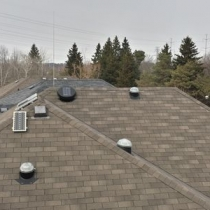 View Solatubes, Solarstar vent, roof view, Pickering, Ontario