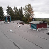 View Solatubes roof top, Claremont Field Centre, Goodwood, Ontario